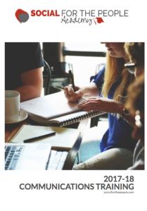 Comms and social media courses brochure