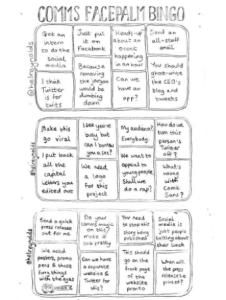 Comms Facepalm Bingo complete game