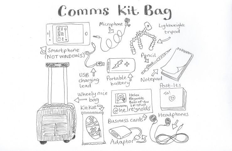 All the things in a comms pro's bag