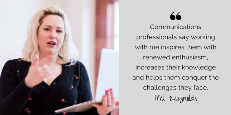 Communications professionals say working with me inspires them with renewed enthusiasm, increases their knowledge and helps them conquer the challenges they face.